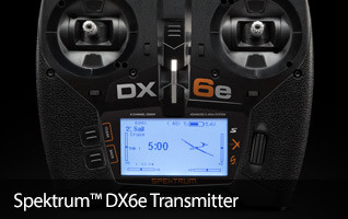 Spektrum DX6e Programmable Transmitter Receiver 2.4GHz Aircraft Radios Controller
