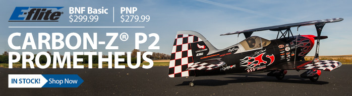 E-flite Carbon-Z P2 Prometheus RC Aerobatic Biplane Airplane