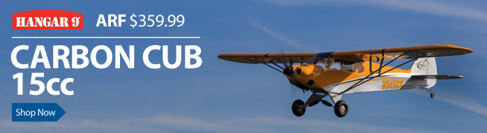 Hangar 9 Carbon Cub 15cc ARF Giant Scale Civilian RC Airplane