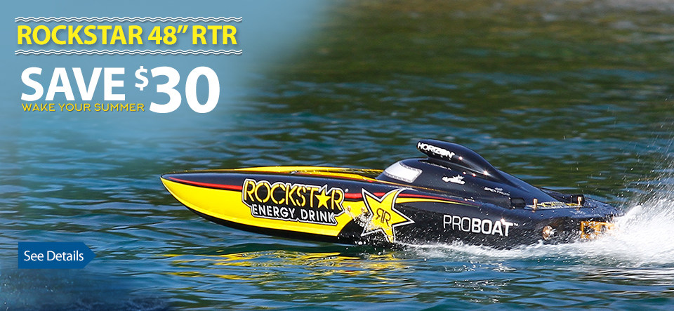 "Pro Boat Rockstar 48"" RTR Gas Petrol Gasoline Deep V RTR"