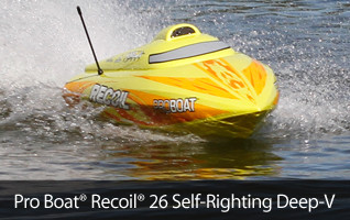 Pro Boat Recoil 26 self righting Deep-V rtr