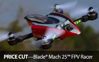 Blade Mach 25 FPV First Person View Racer Bundle Headset Goggles