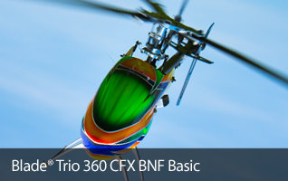 Blade Trio 360 CFX BNF Basic RC Helicopter