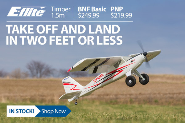 E-flite Timber 1.5m STOL Airplane with Tundra Tires and Floats