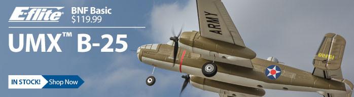 E-flite UMX B-25 Mitchell BNF Basic Ultra Micro Warbird RC Airplane
