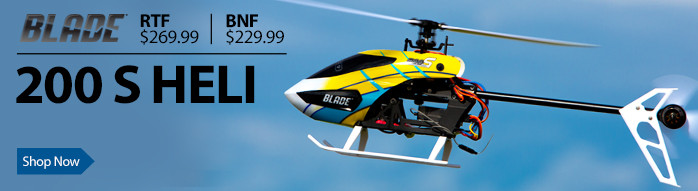 Blade 200 S Micro Flybarless Acrobatic RC Helicopter with SAFE Technology
