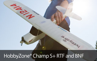 'HobbyZone Champ S+ Trainer Teach-Yourself-to-Fly Beginner RC Airplane