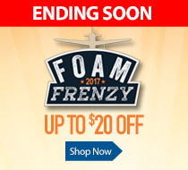 Save up to $20 off select foam airplanes with Foam Frenzy