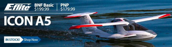 E-flite ICON A5 Scale Amphibious RC Airplane