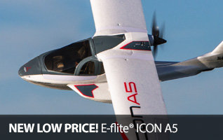 New low prices on the E-flite ICON A5 BNF Basic and PNP Amphibious RC Airplane