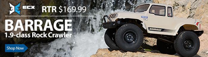 ECX 1.9 Barrage Rock Crawler Electric Cars and Trucks