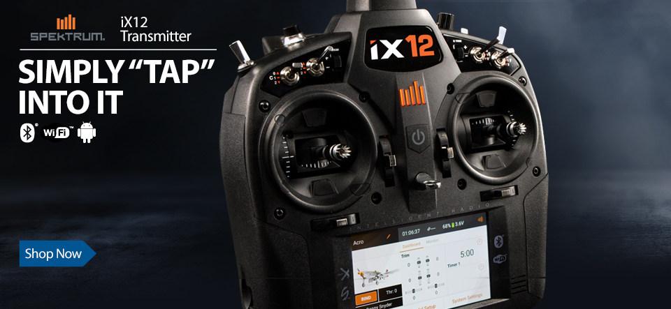 Spektrum iX12 12-channel DSMX Intelligent RC Radio Transmitter