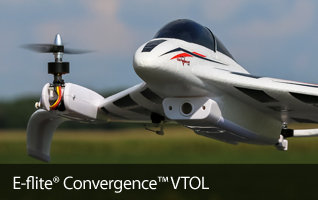 EU_ E-flite Convergence VTOL Vertical Take Off and Landing Parkflyer RC Airplane