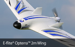 E-flite Opterra 2m Camera Ready RC Flying Wing RC Airplane BNF Basic and PNP