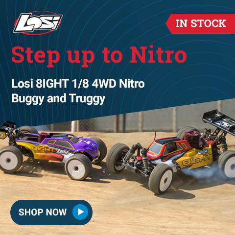 LOS04010 Losi 1/8 8IGHT Nitro Buggy and Truggy