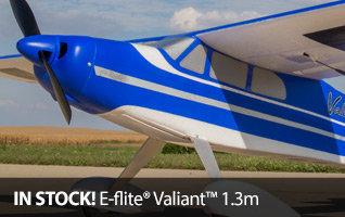 E-flite Valiant 1.3m Park Flyer RC Airplane