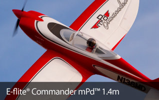 E-flite Commander mPd Sport Park Flyer RC Airplane