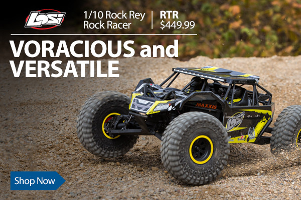 Why climb the rocks when you can obliterate them with the Losi Rock Rey RTR with AVC