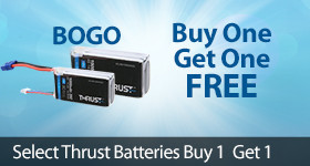 Thust LiPo Battery LiPo Lithium Ploymer BoGo Buy One Get one Free