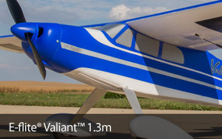 E-flite Valiant 1.3m Park Flyer RC Airplane