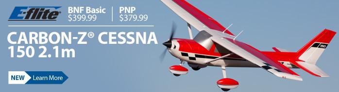 E-flite Carbon-Z Cessna 150 2.1m Giant Scale Civilian RC Airplane