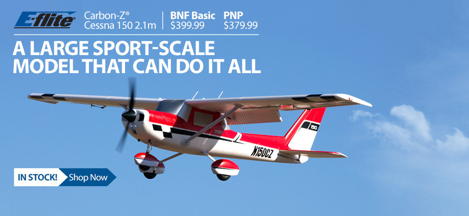 In stock - E-flite Carbon-Z Cessna 150 2.1m Giant Scale RC Airplane