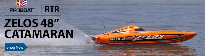 Zelos 48-inch Brushless Catamaran RTR