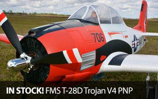 FMS T-28D Trojan V4 PNP, 1400mm Red Warbird RC Airplane