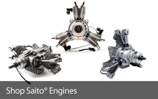 Saito Gasoline glow engines