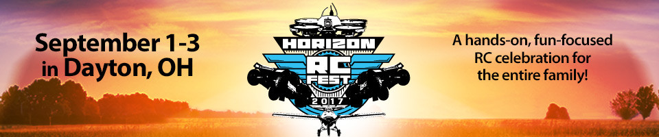 Join us for the Horizon RC Fest 2017 at the Museum of the United States Air Force in Dayton, Ohio on September 1-3