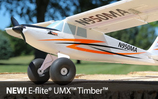 E-flite UMX Timber BNF Basic Ultra Micro Sport RC Airplane