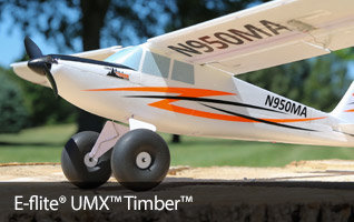 E-flite UMX Timber BNF Basic Ultra Micro STOL RC Sport Airplane