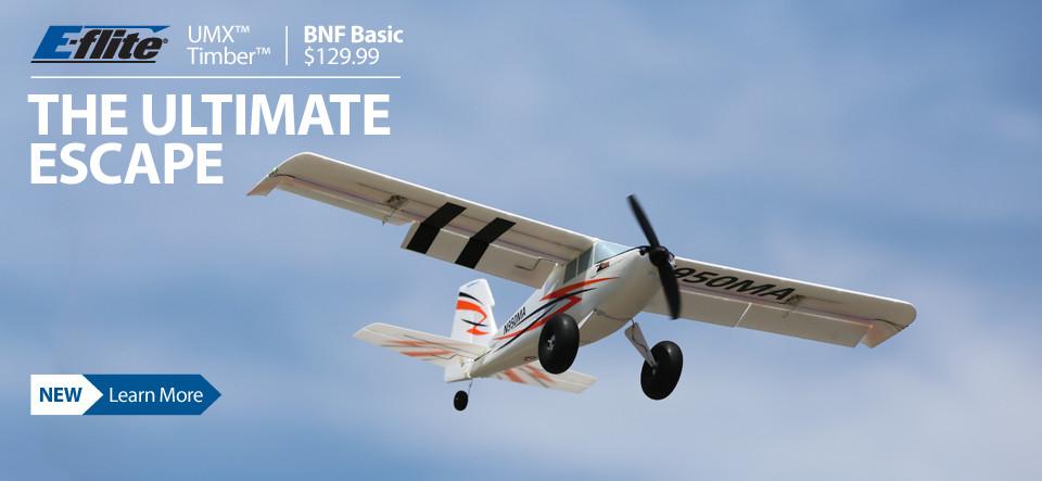 E-Flite UMX Timber BNF Basic