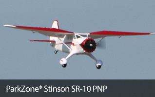 ParkZone Stinson SR-10 1.3m PNP Scale Park Flyer RC Airplane