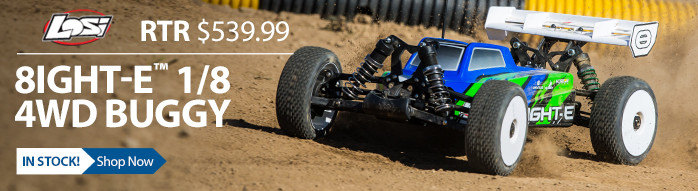 Losi TLR Team Losi Racing 8IGHT RTR Ready to Run Electric Brushless LiPo