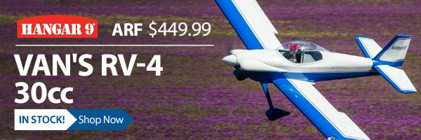 In Stock! Hangar 9 Van's RV-4 ARF 30cc Giant Scale Airplane