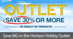 Save 30% or more off select products in the Horizon Hobby Outlet