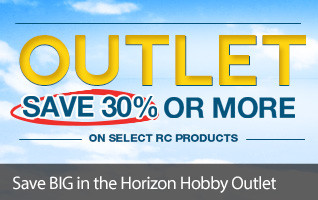 Save 30% and more off great RC products in the Horizon Hobby Outlet