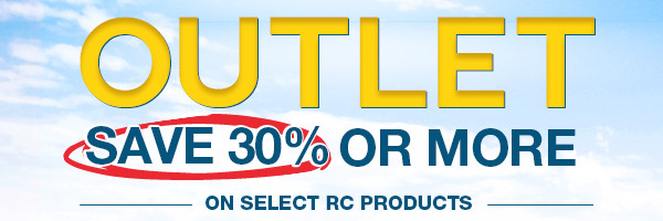 Save 30% and more off of great RC products in the RC Outlet!