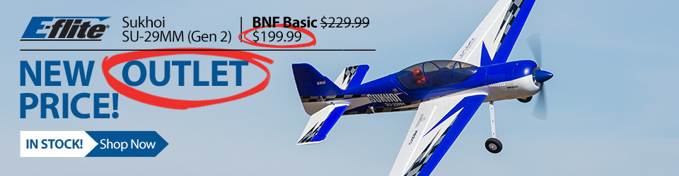 E-flite Sukhoi SU-29MM 1.1m BNF Basic Aerobatic RC Airplane