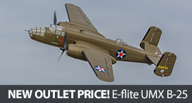 New Outlet Pricing on E-flite UMX B-25 Mitchell Bomber
