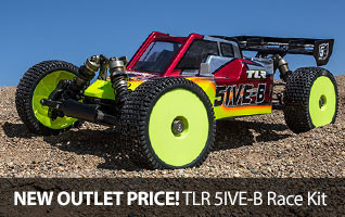 Save $100 off the TLR 5IVE-B Race Buggy Kit