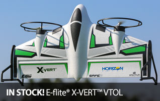 In Stock - E-flite X-VERT VTOL Vertical Take Off and Landing RC Airplane