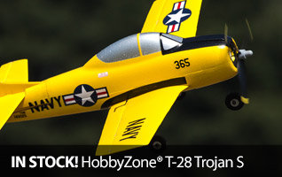 HobbyZone T-28 Trojan S Scale Micro RC Warbird Airplane with SAFE Technology