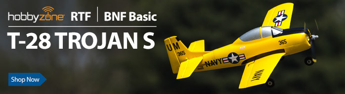 HobbyZone Trojan S RTF BNF Basic Ultra Micro Teach-Yourself-To-Fly RC Airplane Warbird