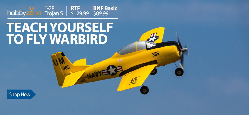 HobbyZone T-28 Trojan S Teach-Yourself-To-Fly Ultra Micro RC Warbird with SAFE Technology