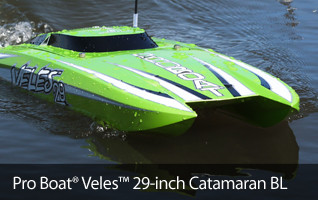 Pro Boat veles 29-inch Cat Catamaran Brushless rtr