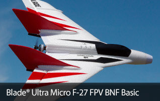E-flite Ultra Micro F-27 FPV Flying Wing RC Airplane