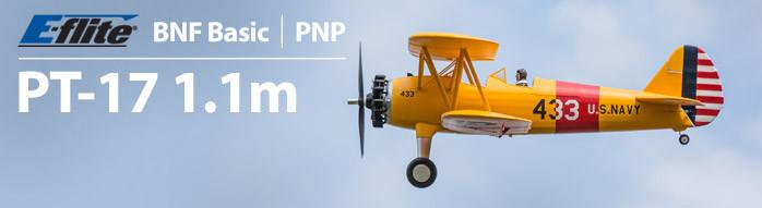 E-flite PT-17 1.1m RC Biplane