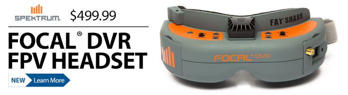 Spektrum Focal DVR FPV Headset Goggles